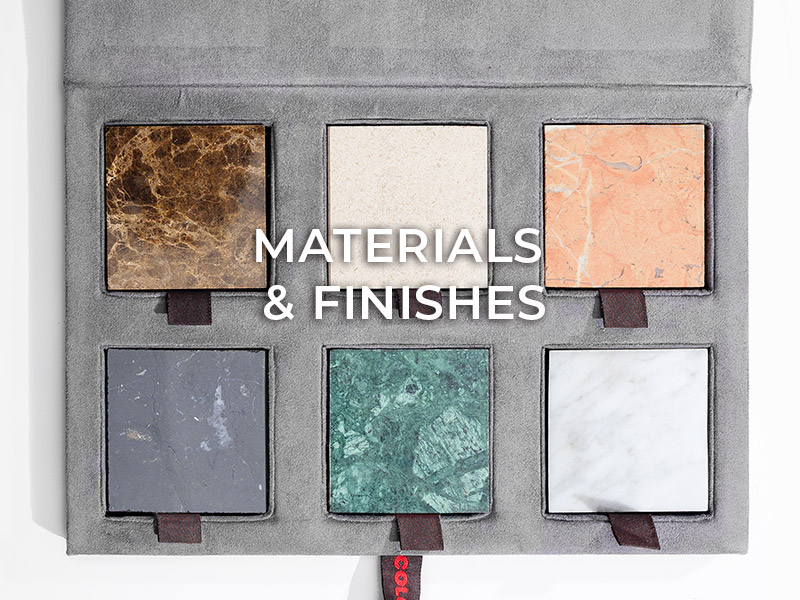 extras & options Extras & Options colunex materials finishes mobile