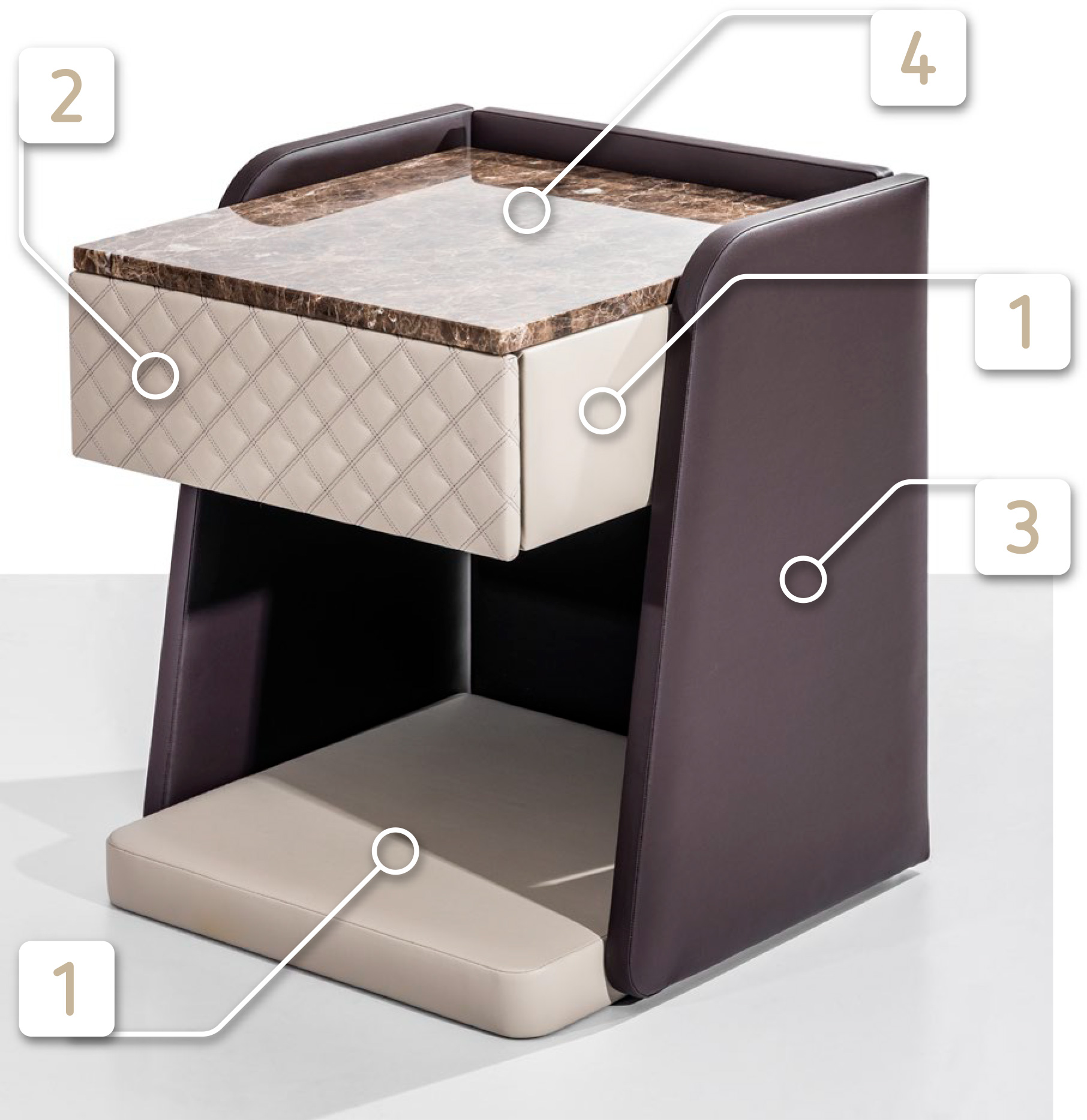 Cosmopolitan bedside table by Colunex
