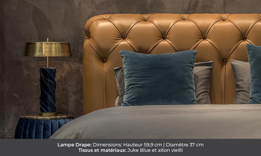 Drape table lamp by Colunex drape Drape colunex drape lampe de chevet galerie