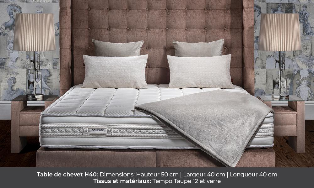 H40 bedside table by Colunex table de nuit h40 H40 colunex h40 table de chevet galerie