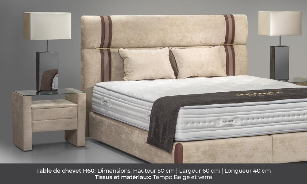 H60 Bedside table by Colunex table de nuit h60 Table de Nuit H60 colunex h60 table de chevet galerie