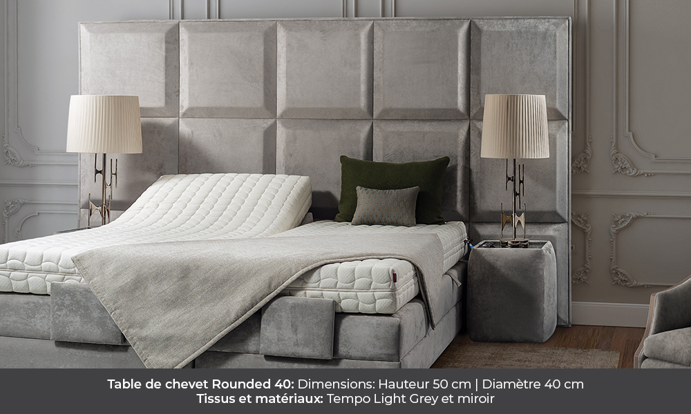 Rounded 40 bedside table by Colunex rounded 40 Rounded 40 colunex rounded 40 table de chevet galerie