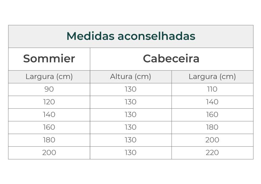 cabeceira icon lite Cabeceira Icon Lite colunex desire headboard dimensions guide