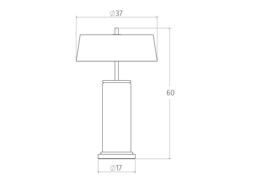 azur Azur Table lamp colunex azur table lamp tecnical