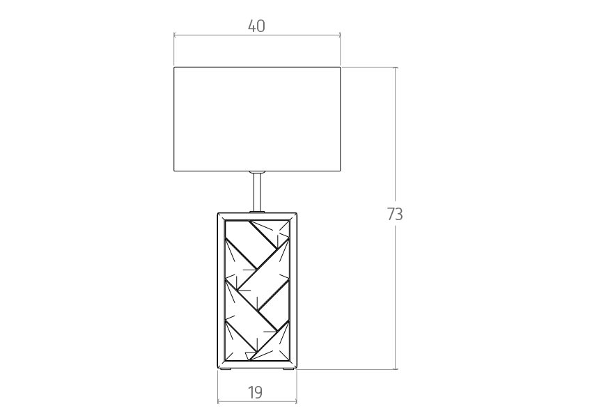 carat Carat Table lamp colunex carat table lamp tecnical