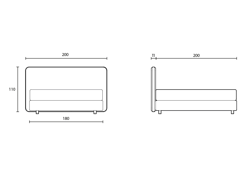 concept Tête de lit Concept colunex concept headboard tecnical