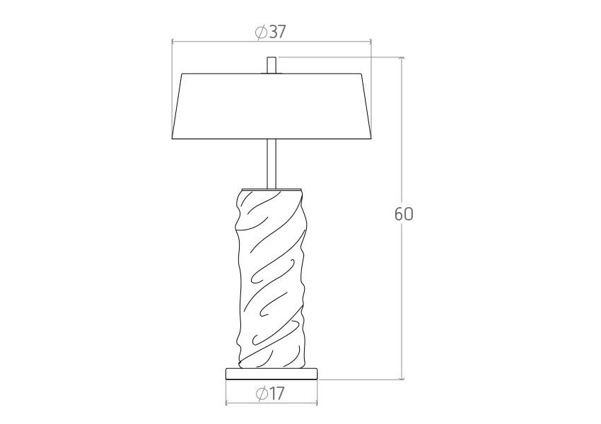 drape Candeeiro Drape colunex drape table lamp tecnical