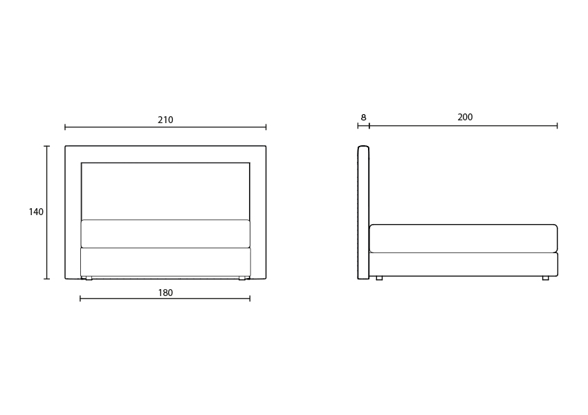 frame Tête de lit Frame colunex frame headboard tecnical
